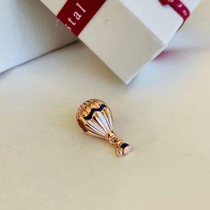 Gold Pandora Hot Air Balloon Charm
